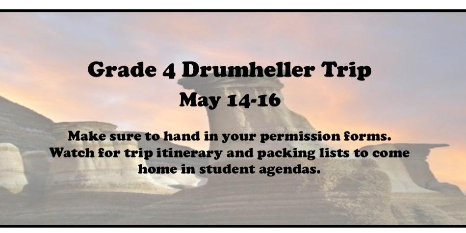 Gr 4 Drumheller Trip