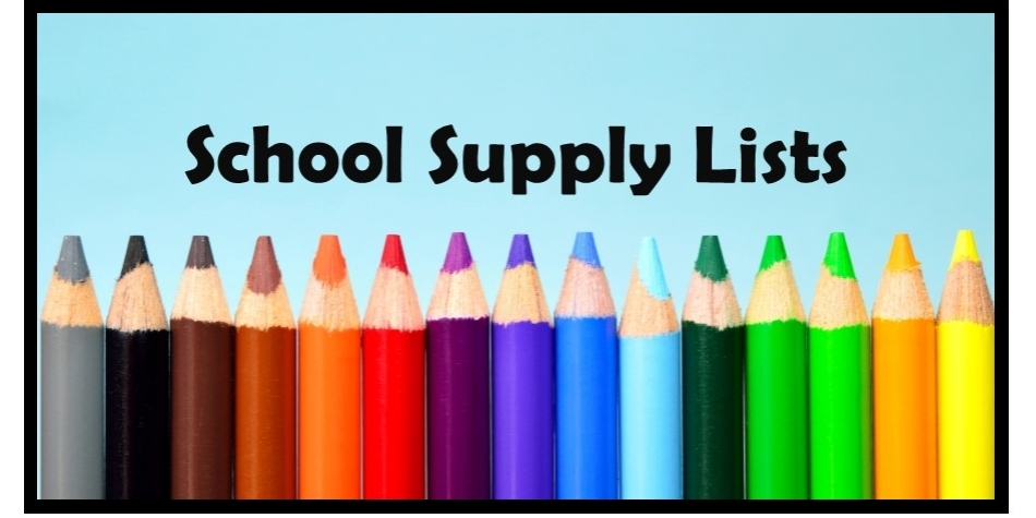 School Supply Lists 2021-22